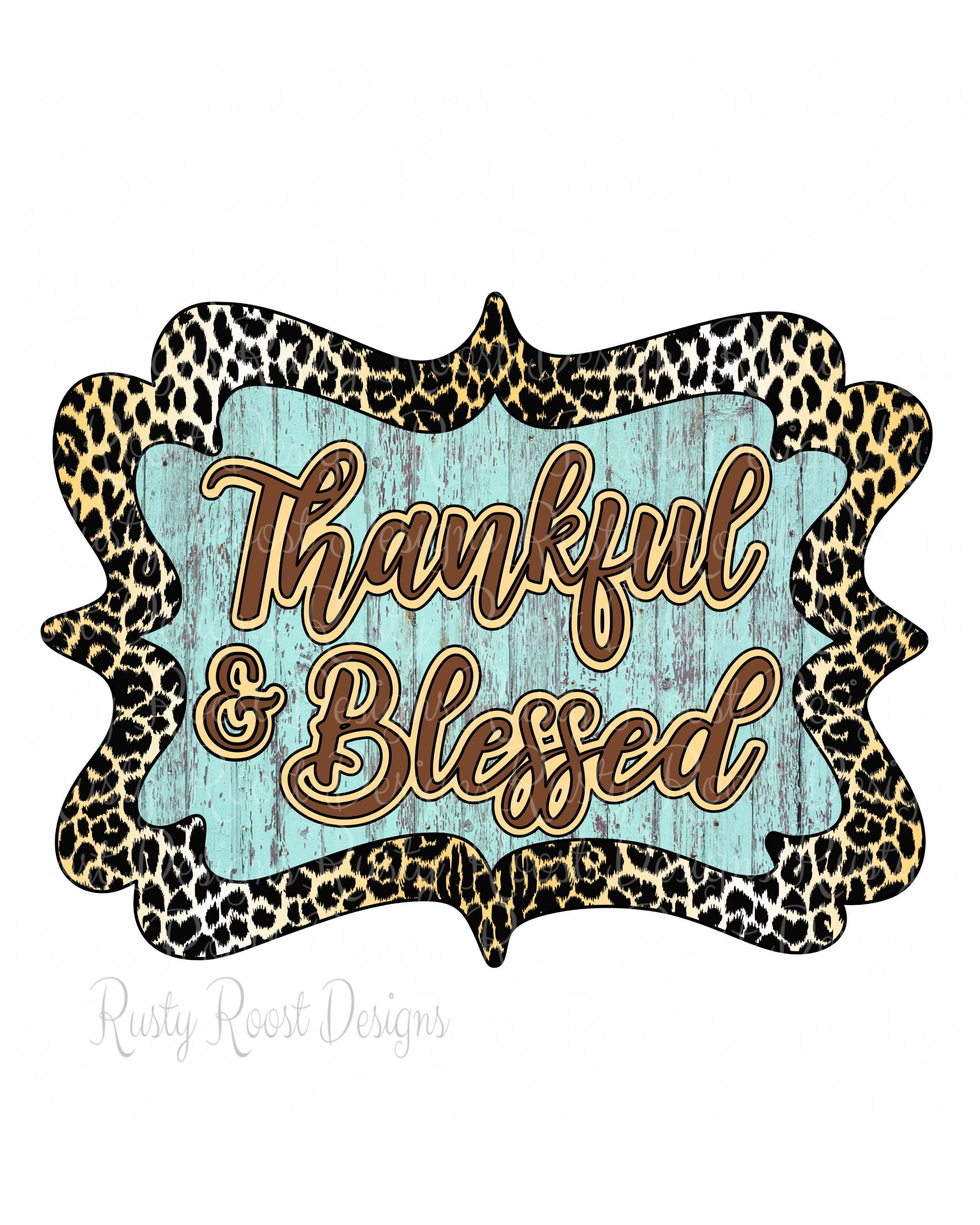 Thankful And Blessed Png,fall Sublimation Designs