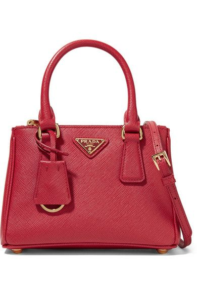 fb3042a182 PRADA Galleria Baby Textured-Leather Tote.  prada  bags  shoulder bags   hand bags  leather  tote