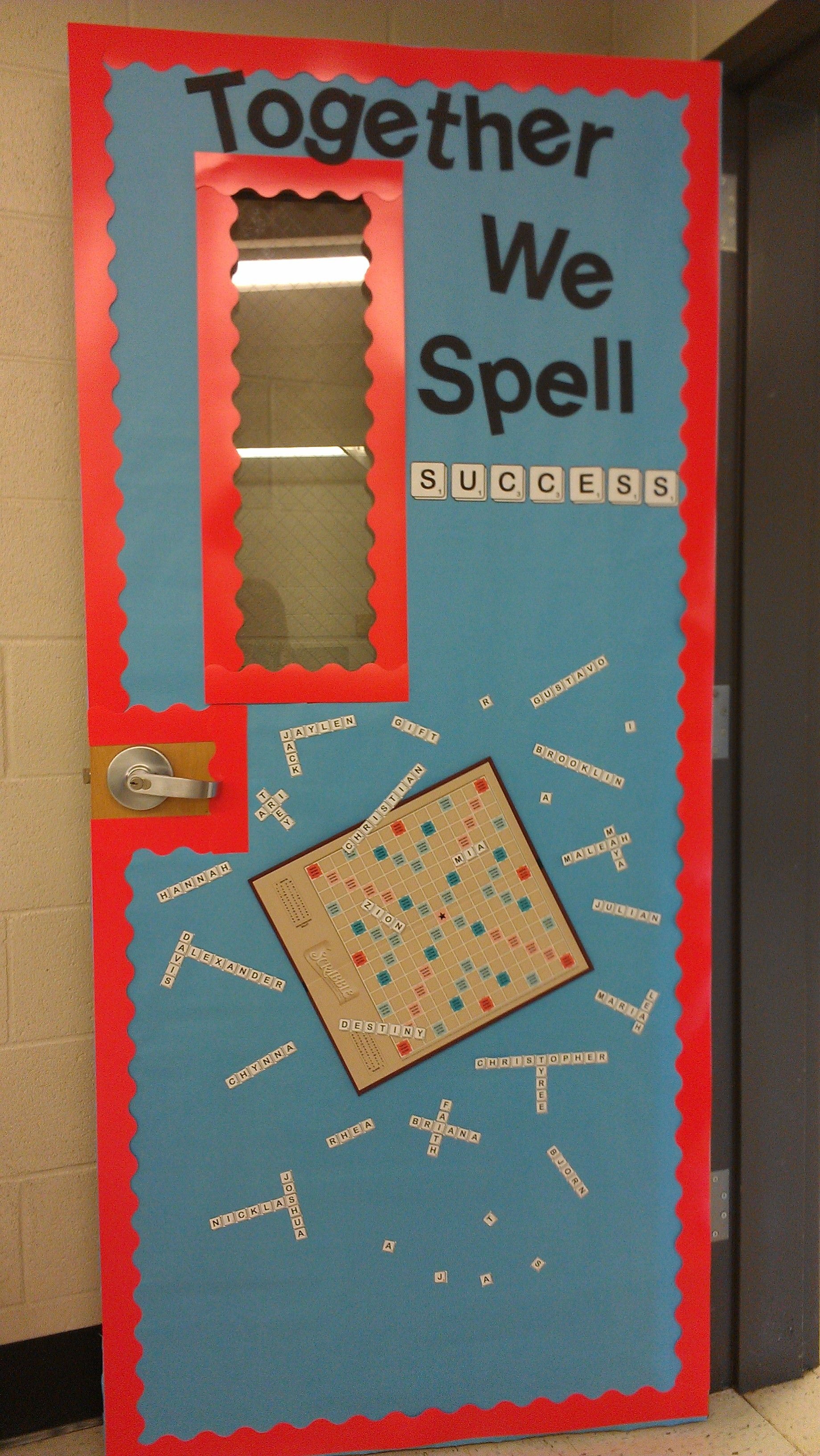School Classroom Decor Games : Board game theme scrabble might need a spelling door