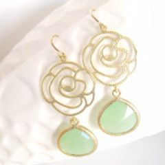 Rosalie Earrings in Mint