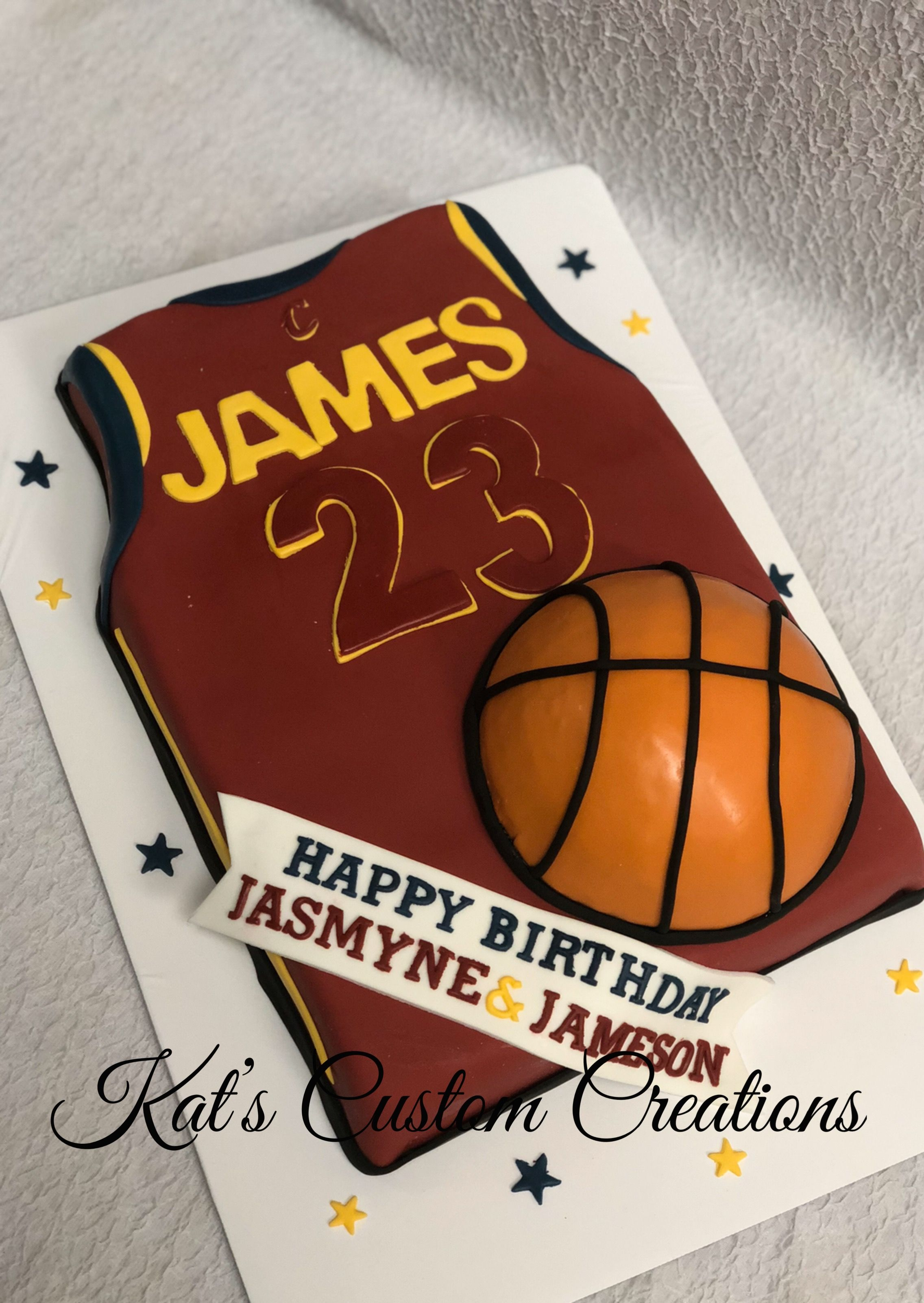 Outstanding Lebron James Jersey Cake Boy Birthday Cake Funny Birthday Cards Online Alyptdamsfinfo