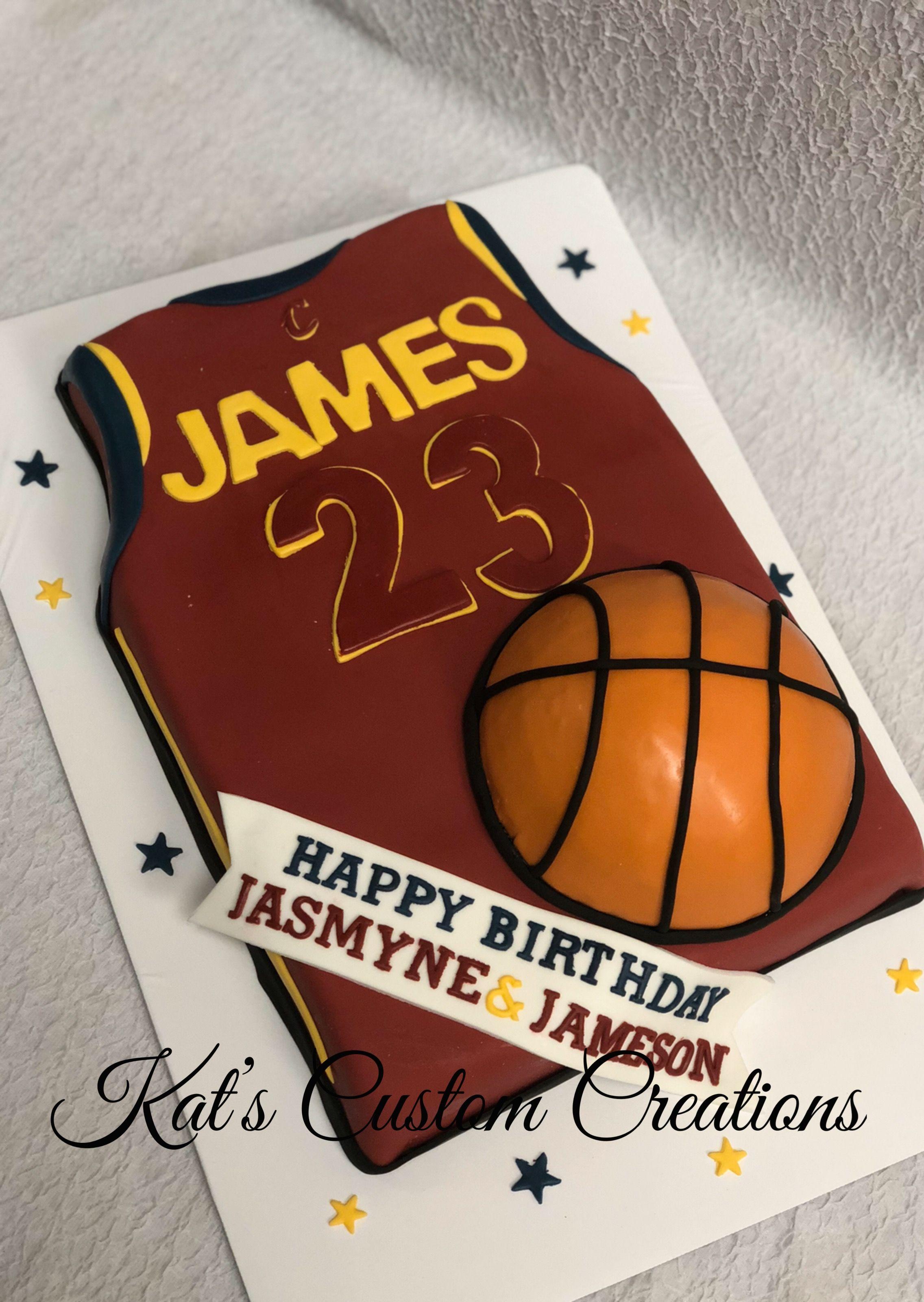 Lebron James Jersey Cake Boy Birthday Cake