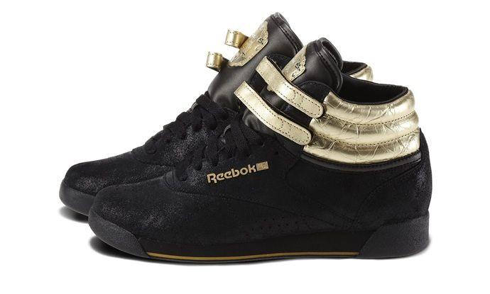 1f60a625a Anniversary Black ReebokBrass - Freestyle Hi 30th - Reebok ...