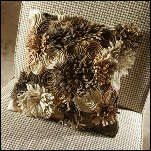 wool/felt garden pillow....<3