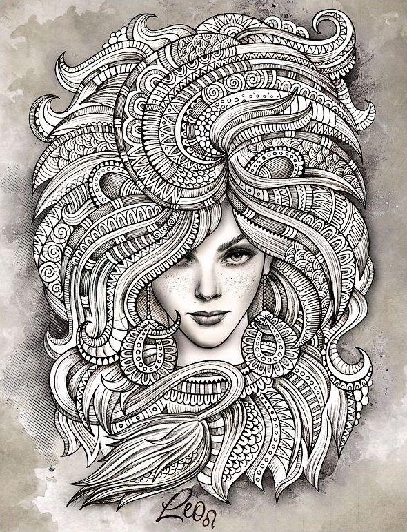 Раскраски для взрослых | Раскраски, Татуировки созвездий ...