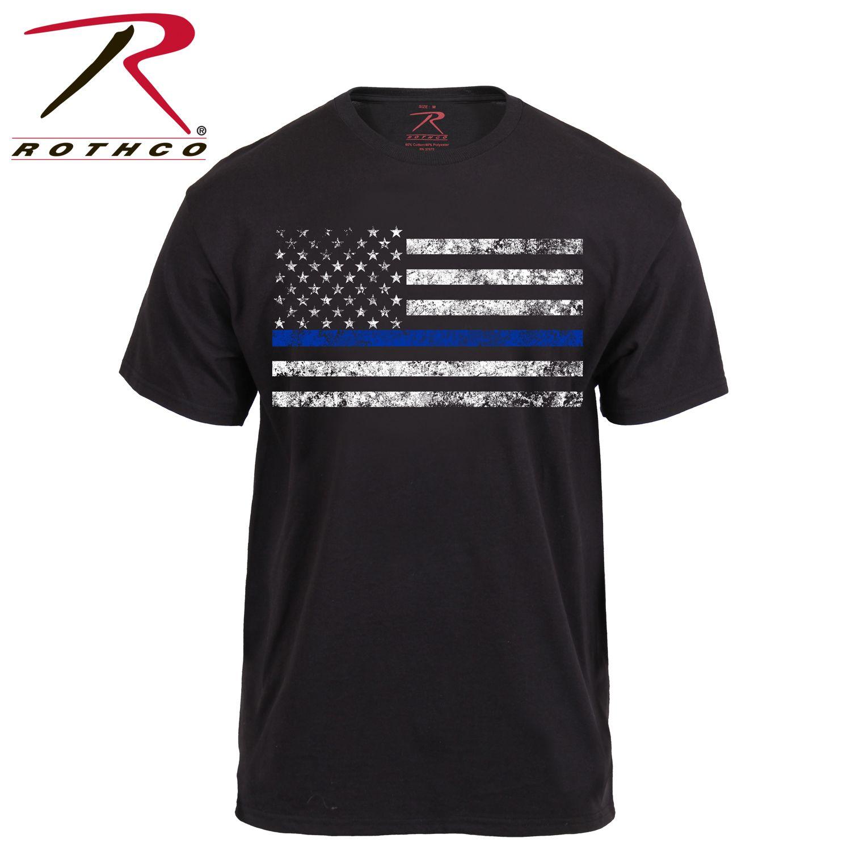 Rothco Thin Blue Line T Shirt Rothco Thin Blue Line Thin Red