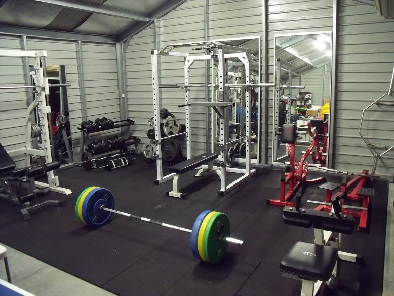 Setting up garage gym advice on bench and flooring page the
