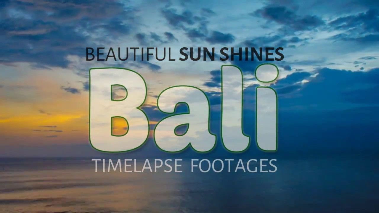 Beautiful Sunshine in Bali | Timelapse Footage