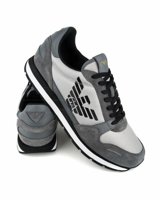 25aa1842e Zapatillas Emporio Armani - Gris Potes, Sapatilhas, Sapatos Masculinos Na  Moda, Moda Sneakers