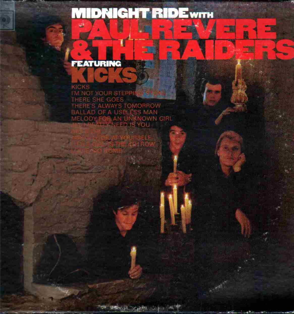 paul revere and the raiders midnight ride rock and roll paul revere and the raiders midnight ride