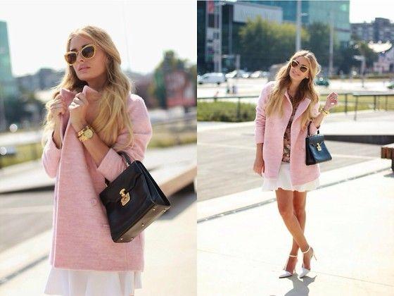 Zara Coat, Gucci Bag, Zara Heels, Miu Miu Sunglasses