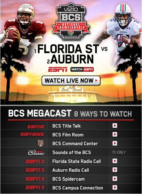 ESPN's Tune-In for the BCS Championship Game