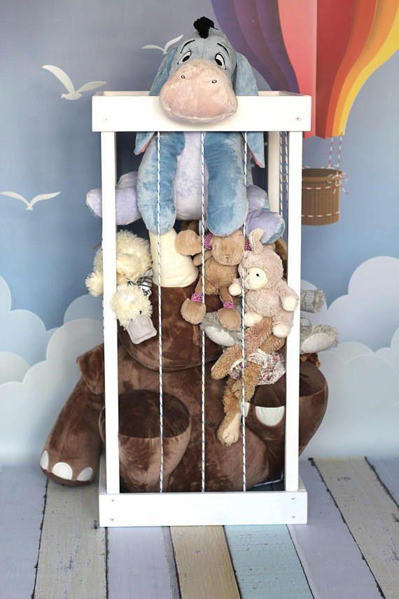 Ideen und Lösungen für die Aufbewahrung von niedlichen Kuscheltieren, um Ihr Kinderzimmer sau…
