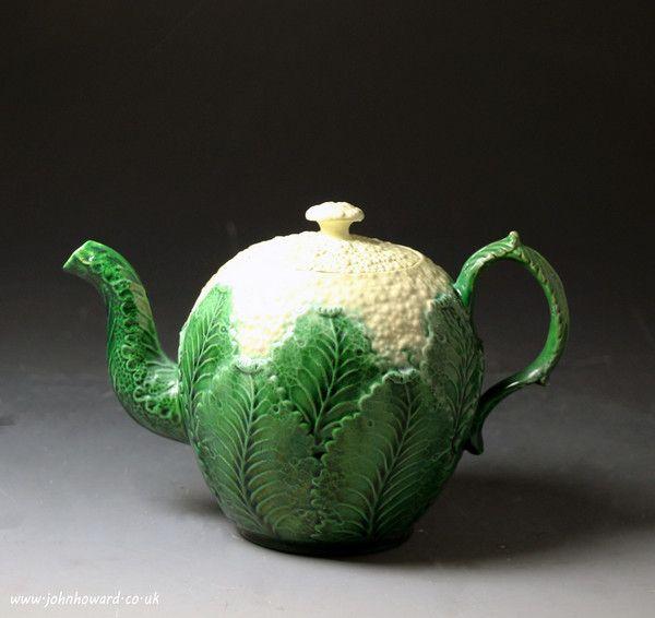 Стаффордширский Creamware керамика цветная капуста чайник античный период c1760 английский. GBP 1850.00 (фунт стерлингов) USD 3163,5 (Доллары США)