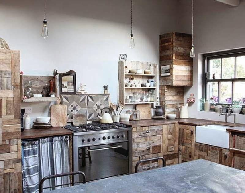 Muebles de palets: 10 increíbles diseños de cocinas hechas con ...