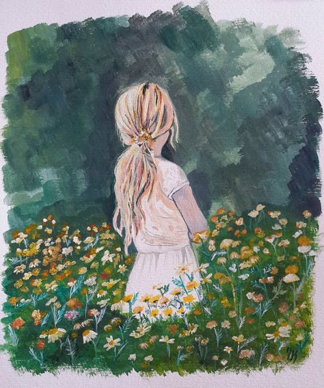 Super Flowers Painting Acrylic Fields 54+ Ideas