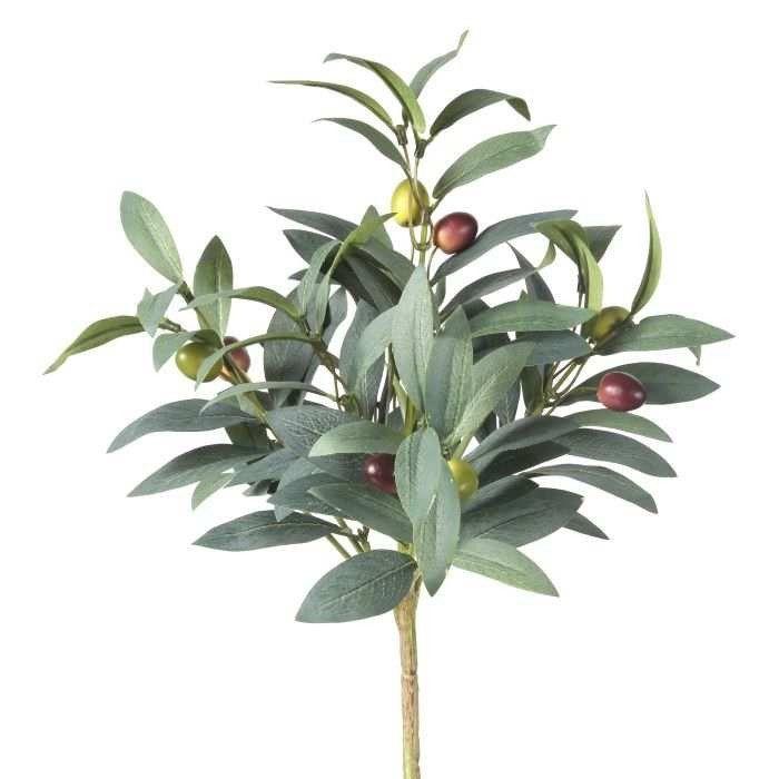 Artificial Olive Branch Bush In Green Br 15 Tall Diy
