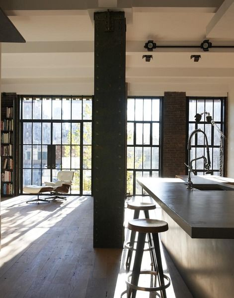 Captivating East Village Apartment Loft Apartment. NYC Loft Living. Design