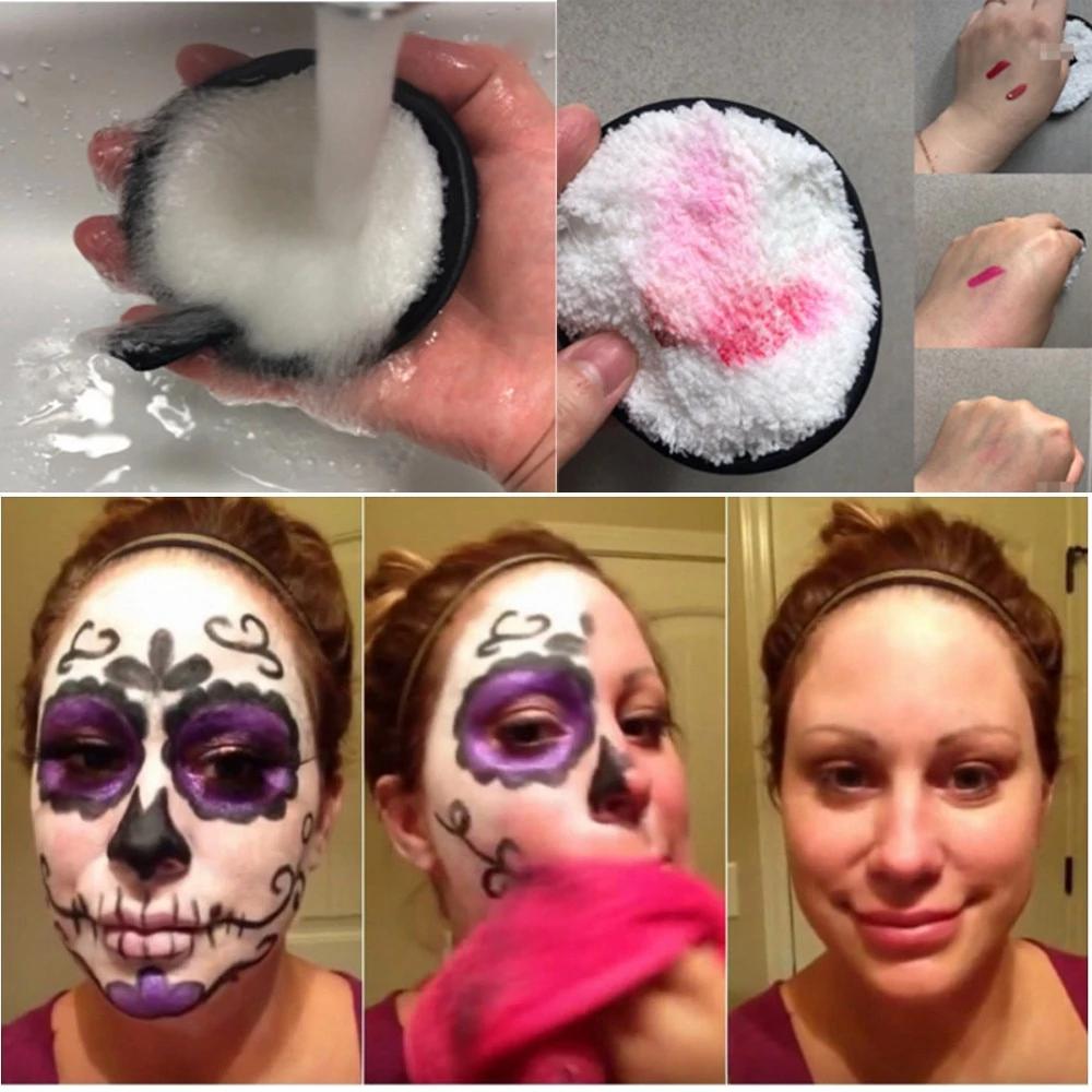 Microfiber Suede Cleansing Cotton(3pcs) Makeup remover
