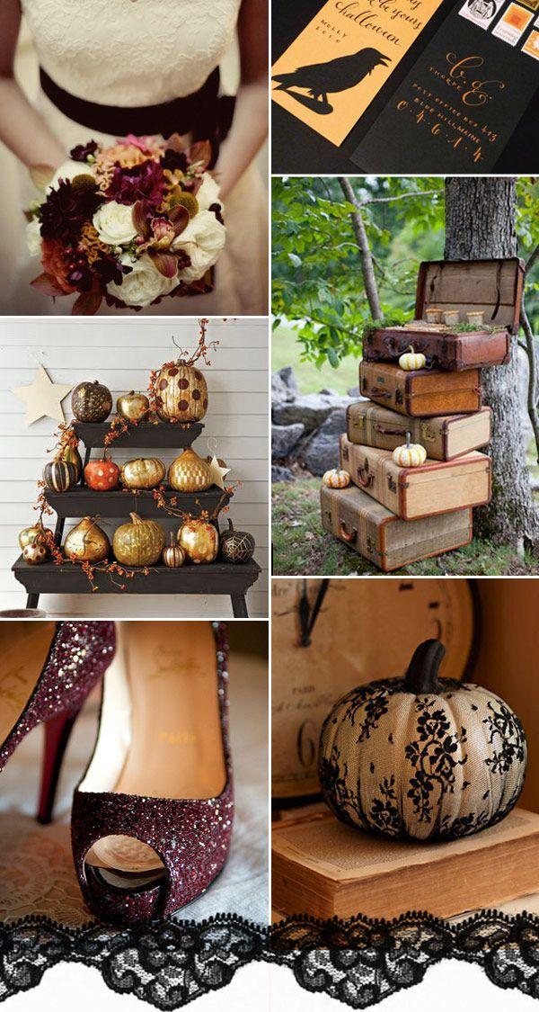 Halloween Wedding Ideas Halloween Wedding Inspiration Autumn Wedding Onefabday Com Classy Halloween Wedding Halloween Themed Wedding Halloween Wedding