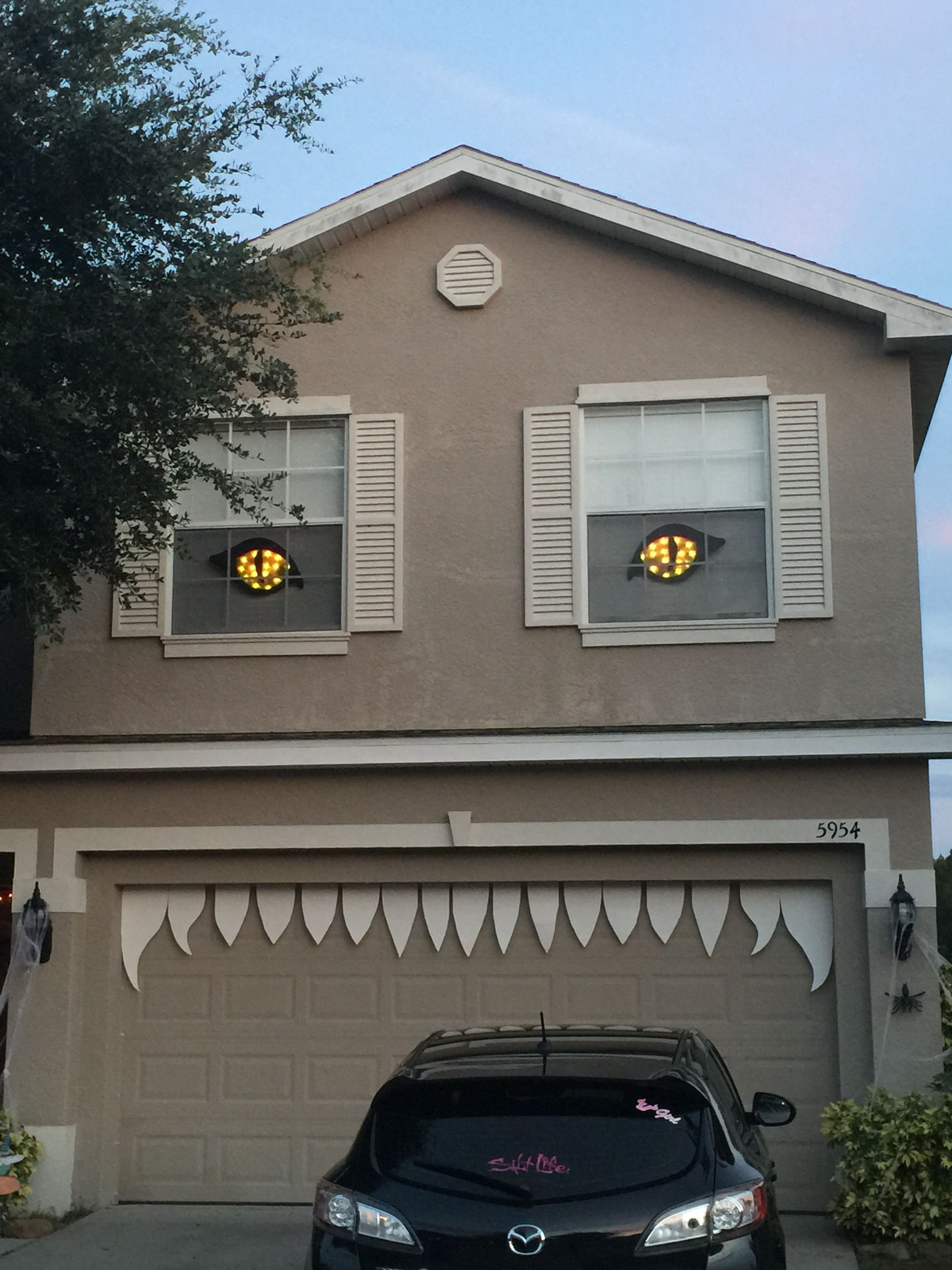Our Halloween monster house decor this year. Great idea for ...