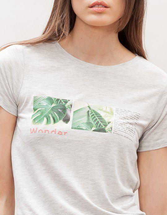 Na Stradivarius encontrarás 1 T-shirt print plantas para mulher por apenas 9.95 € . Entra agora e descobre-o juntamente com mais ROUPA.