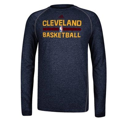 7cb47c4166db adidas Cleveland Cavaliers Practice Performance Long Sleeve T-Shirt - Navy  Blue