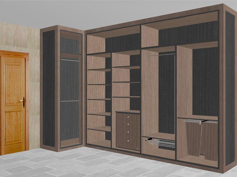Dise o interior vestidor en 800 600 camas - Diseno interior armarios ...