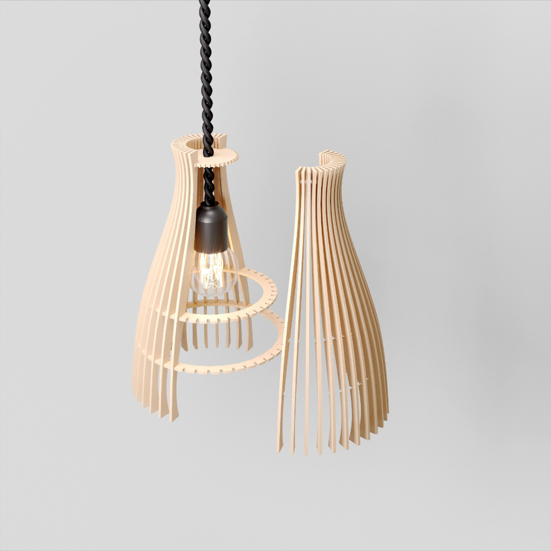 Wood Pendant Light Marimba Modern Chandelier Lighting Hanging Dining Lamp Geometric Lamp Wood Lamp Design Wood Pendant Light Wood Lighting Design