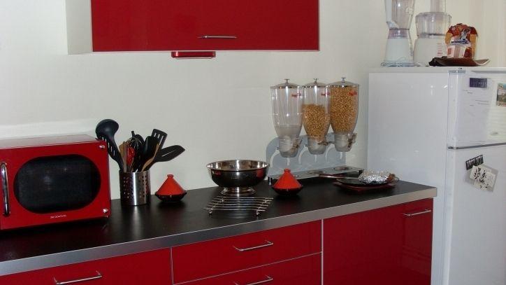 New Meilleur Élégant et Superbe Cuisine Rouge Plan De Travail Noir - plan de travail cuisine rouge