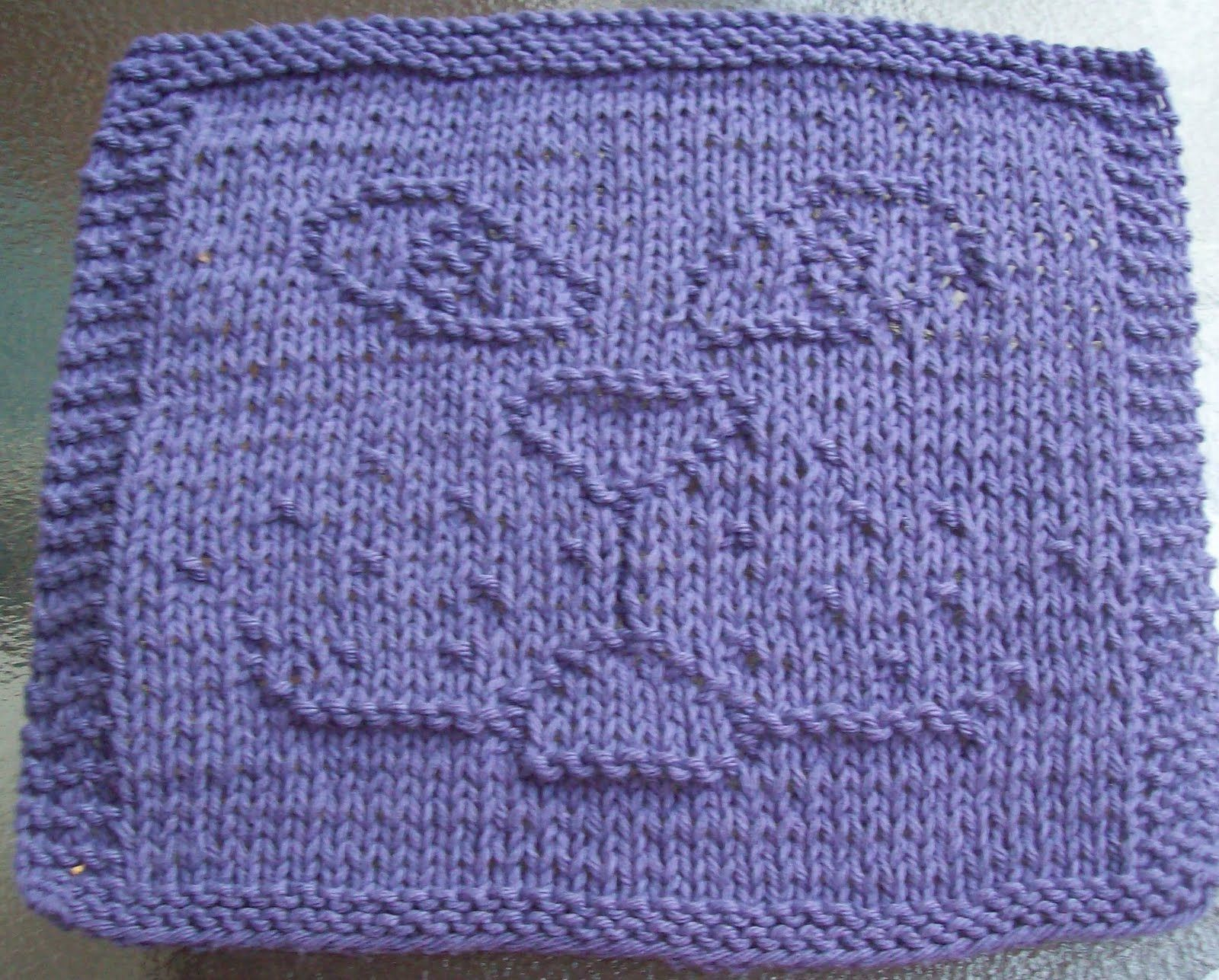knitted dishcloth patterns | Cat Face Knit Dishcloth Pattern | knit ...