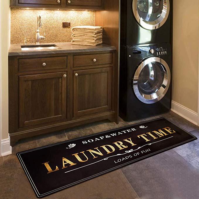 Amazon Com Ustide Laundry Room Decor Loads Of Fun Rug Floor Mat