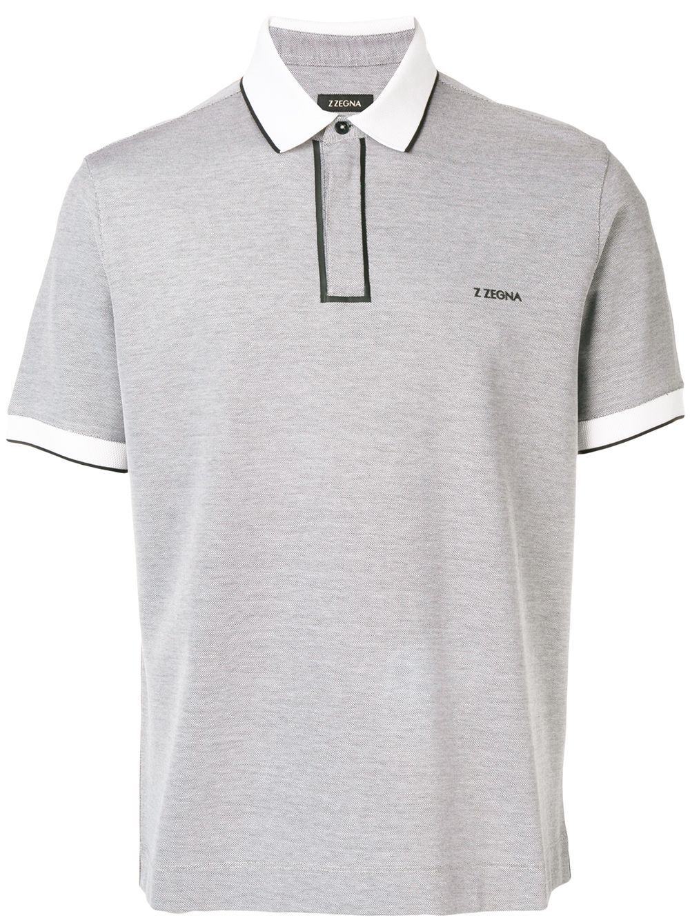 c7c0819a Z Zegna contrast piped polo shirt - Grey in 2019   Products   Polo ...