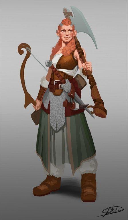 Art Female Viking Character Art Exploration Dnd Badass