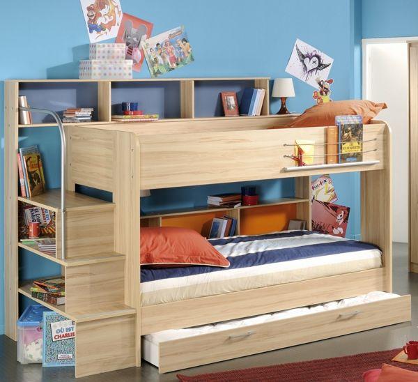 kinderhochbetten helles design dekokissen schubladen kinderzimmer babyzimmer jugendzimmer. Black Bedroom Furniture Sets. Home Design Ideas