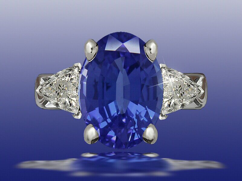 John Wallick Jewelers: Blue Silk Sapphire Ring, Sun City Jewelry Store, Phoenix