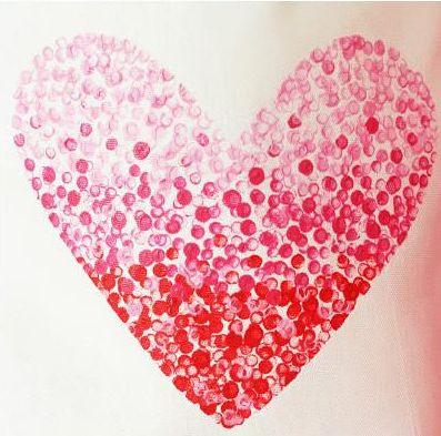 Disegna un cuore con la pittura e una matita, ottimo per decorare ...
