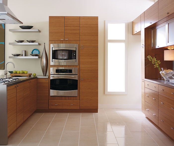 Thomasville Find Your Style Jules Horizontal Bamboo Wafer Japanese Style Bathroom Bamboo Kitchen Cabinets Kitchen Layout