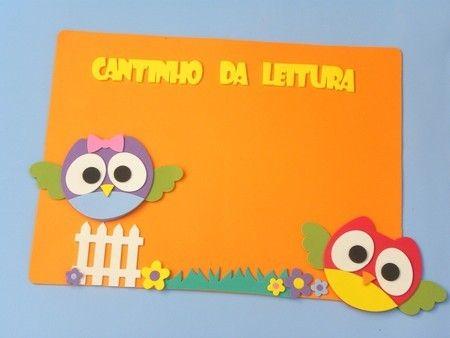 Painel Cantinho da leitura Coruja www.petilola.com.br decora??o ...