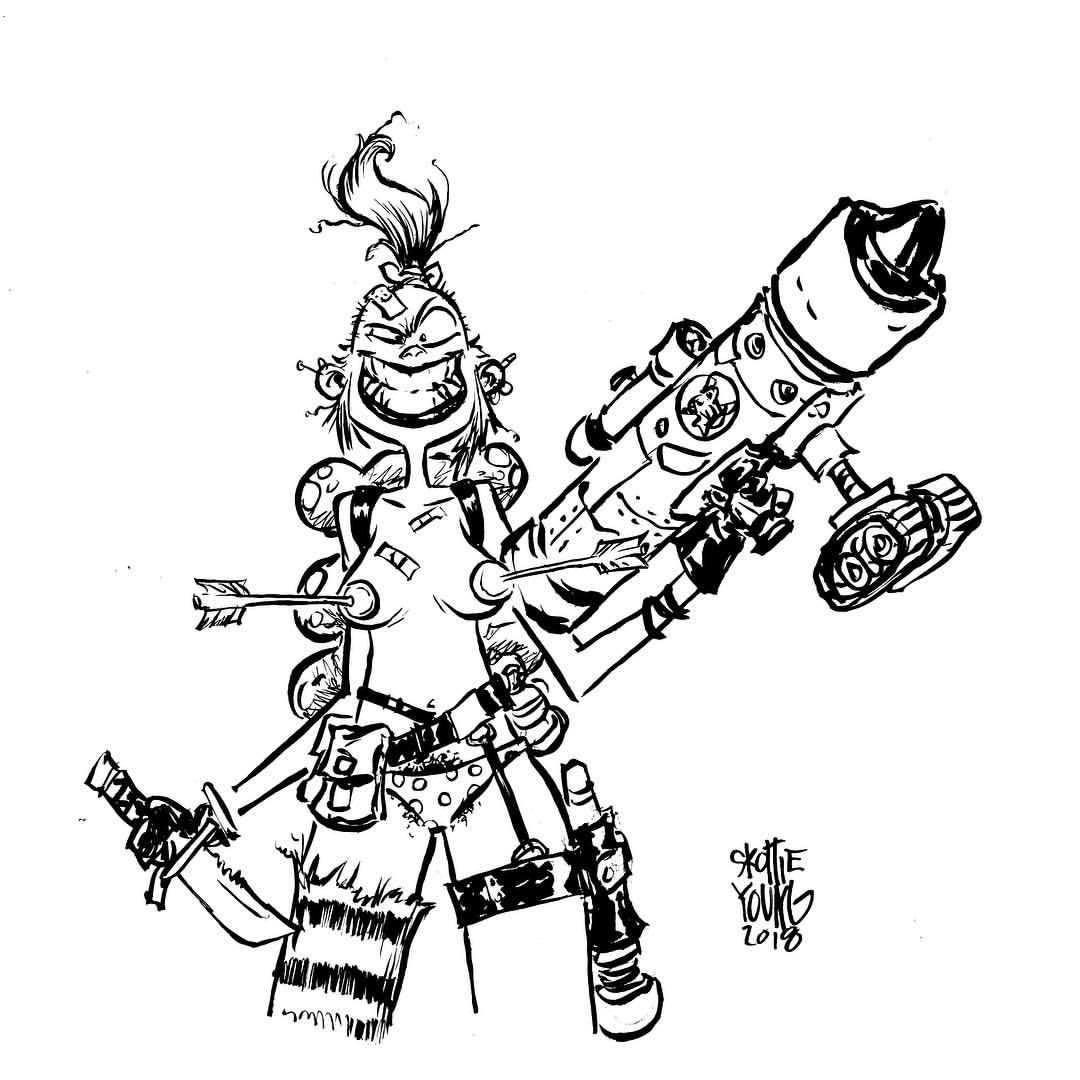 Tank Girl dailysketch Skottie young, Tank girl, Young art
