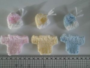 Hand knitted Baby Girl / Baby Boy Card Toppers / Embellishments FREE UK POSTAGE | eBay