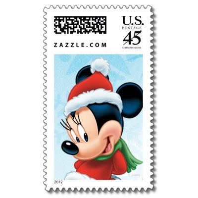 Christmas Minnie stamps