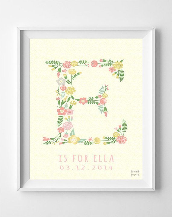 Customizable prints initial print customizable poster customizable prints initial print customizable poster personalized baby gifts elsa elyse eunice eliana ester 4th of july negle Image collections