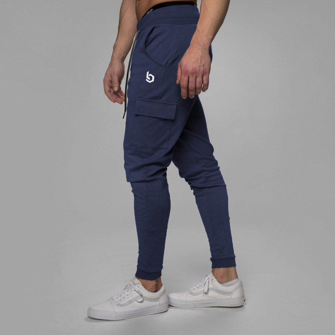 Photo of Men's Navy blue workout joggers sweatpants plus size