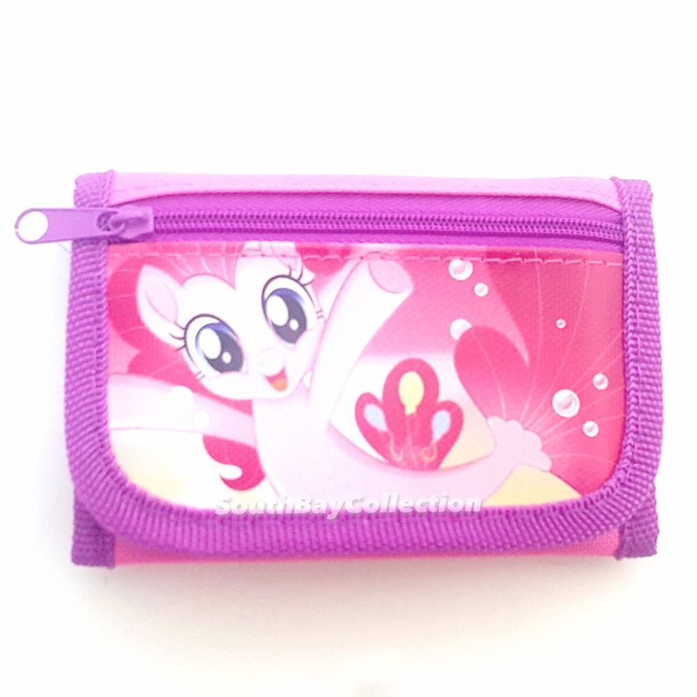 Princess Girls Wallet Coin Purse Trifold Zip Kids Birthday Party Gift