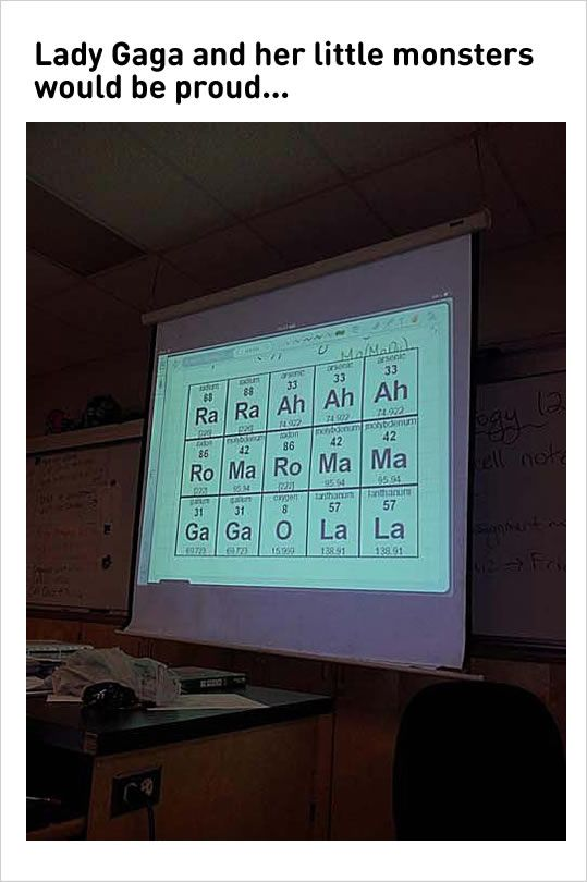10 Fresh Teacher Memes 4 Learn Periodic Table With Lady Gaga Song