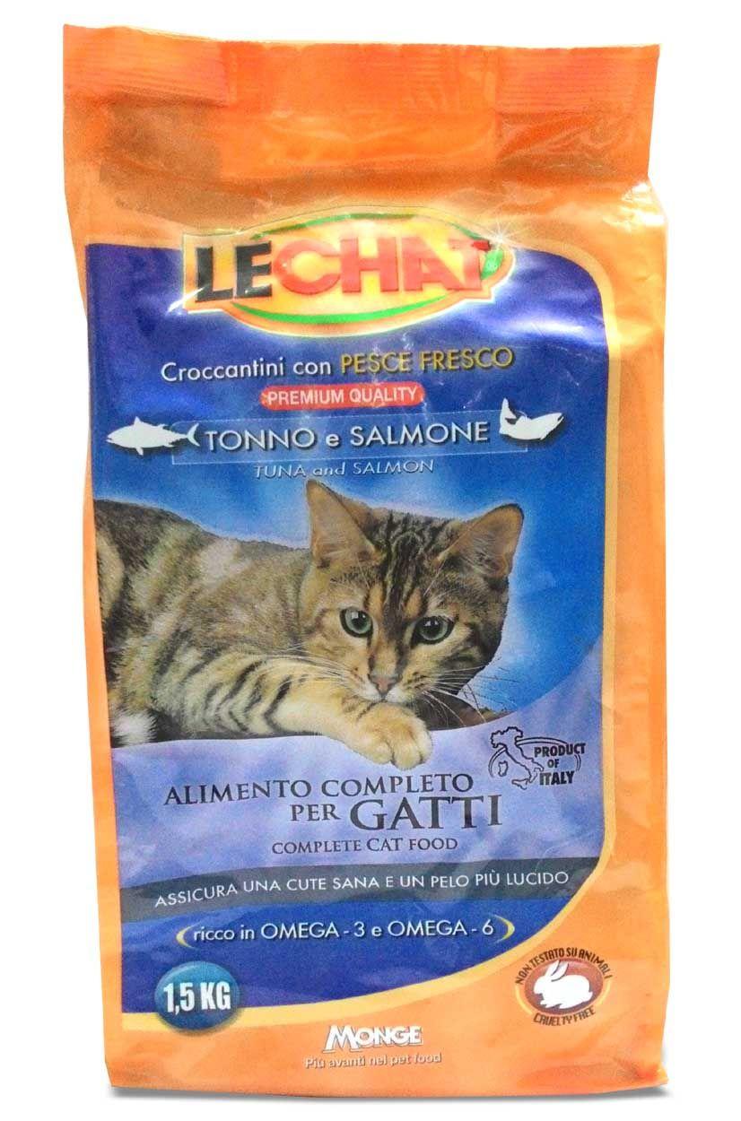 Monge Lechat Tuna And Salmon Cat Food 1 5 Kg Cat Snacks Salmon Cat Cat Snacks Cat Food