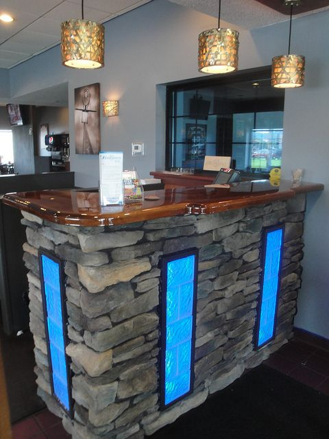 Newly Remodeled Dining Room And Hostess Stand At Features Sports Bar Grill In West Salem