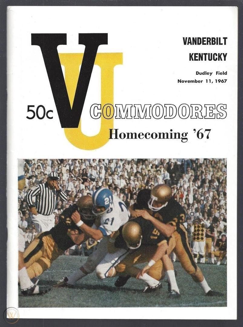 1967 Vanderbilt vs. Kentucky Football Program November
