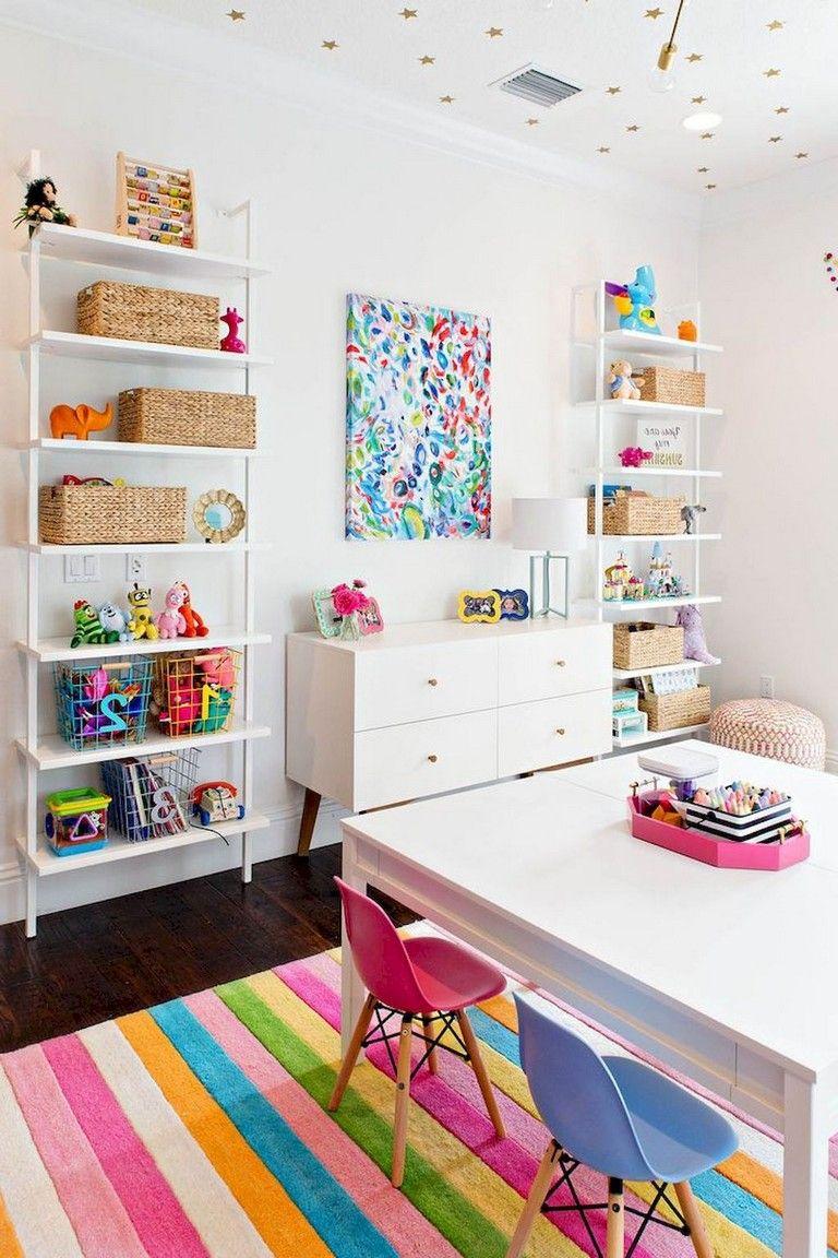 52 Cute Basement Playroom Design Themes Ideas Page 53 Of 54 In 2020 Modern Playroom Playroom Organization Playroom Design